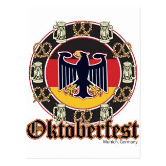 Oktoberfest Beer and Pretzels Postcard