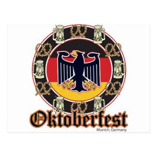 Oktoberfest Beer and Pretzels Postcards