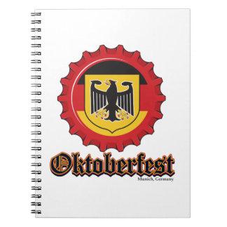 Oktoberfest Beer Bottle Cap Notebook