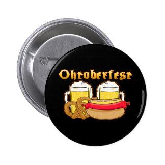 Oktoberfest Beer Bratwurst Pretzel Buttons