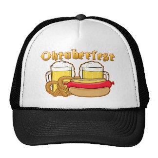 Oktoberfest Beer Bratwurst Pretzel Trucker Hat