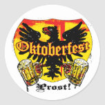 Oktoberfest Beer Drinking Team Shirts and Gifts Classic Round Sticker
