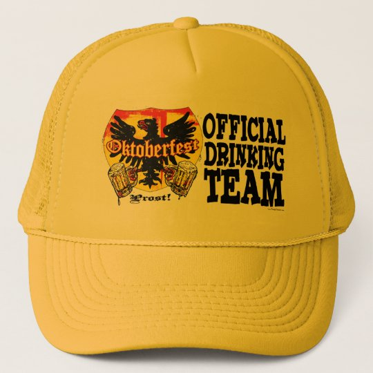 Oktoberfest Beer Drinking Team Shirts and Gifts Trucker Hat