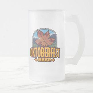 Oktoberfest Beer Frosted Glass Beer Mug
