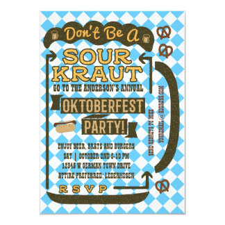 Oktoberfest Beer Funny October Drinking Party Card