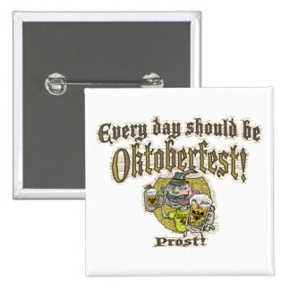 Oktoberfest Beer Guy Pinback Button