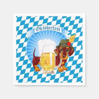 Oktoberfest Beer Hound Paper Napkin