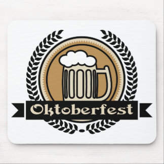 Oktoberfest Beer Icon Or Label Mouse Pads