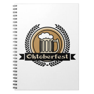 Oktoberfest Beer Icon Or Label Notebook