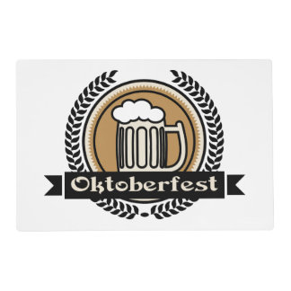 Oktoberfest Beer Icon Or Label Placemat