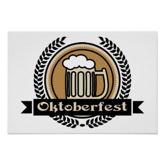Oktoberfest Beer Icon Or Label Poster