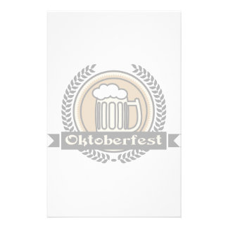 Oktoberfest Beer Icon Or Label Stationery Paper