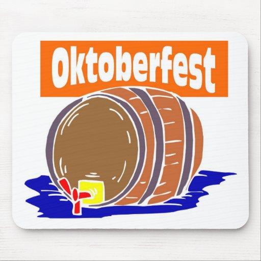 Oktoberfest beer keg mouse pad