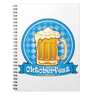 Oktoberfest Beer Label, Detailed Notebook