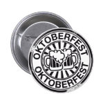 Oktoberfest beer logo pinback button