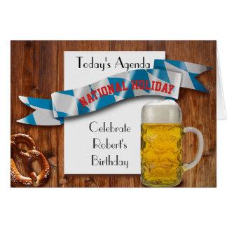 Oktoberfest Beer Lovers Funny birthday retirement Card