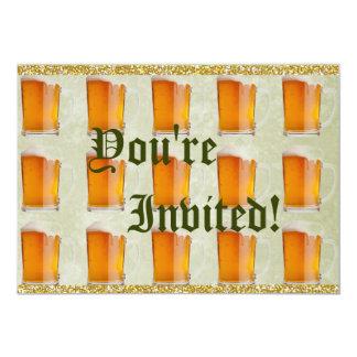 Oktoberfest Beer Mugs Prost 5x7 Paper Invitation Card