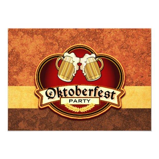 Oktoberfest Beer Party Double Mug Toast Custom Card