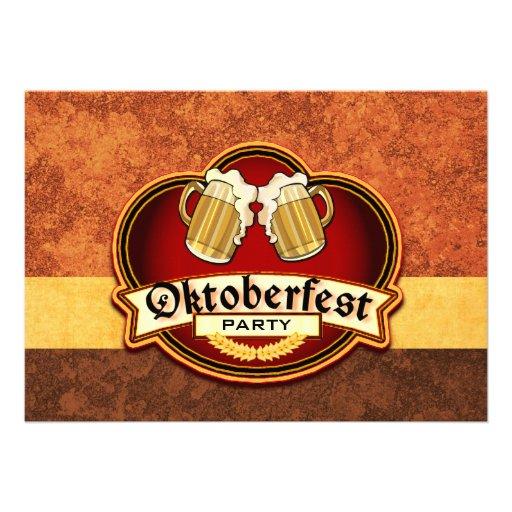 Oktoberfest Beer Party Double Mug Toast Custom Announcement