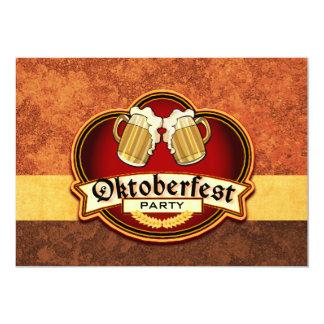 Oktoberfest Beer Party Double Mug Toast 5x7 Paper Invitation Card