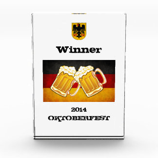 Oktoberfest Beer Party - Germany Flag Eagle Shield Award