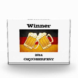 Oktoberfest Beer Party - Grunge Germany Flag Award