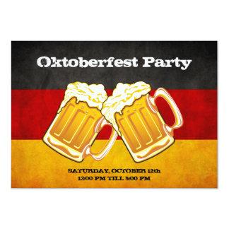 Oktoberfest Beer Party - Grunge Germany Flag Card