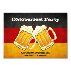 Oktoberfest Beer Party - Grunge Germany Flag Card at Zazzle