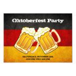 "Oktoberfest Beer Party - Grunge Germany Flag 5"" X 7"" Invitation Card"