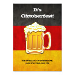 "Oktoberfest Beer Party - Grunge Germany Flag 5"" X 7"" Invitation Card"