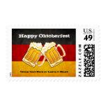 Oktoberfest Beer Party - Grunge Germany Flag Postage Stamp