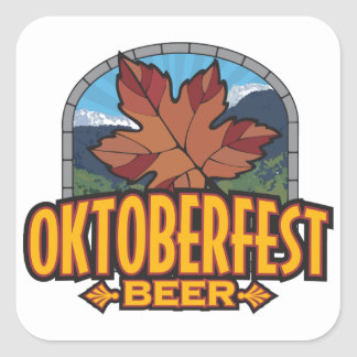 Oktoberfest Beer Square Stickers