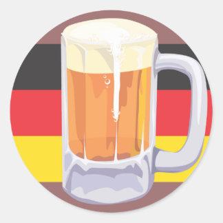 Oktoberfest Beer Sticker Round Stickers