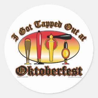 Oktoberfest Beer Tappers Classic Round Sticker