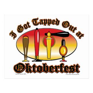 Oktoberfest Beer Tappers Postcard
