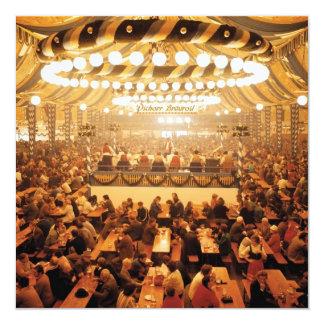 "Oktoberfest Beer Tent Invitation 5.25"" Square Invitation Card"