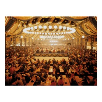 Oktoberfest Beer Tent Poster by HolidayBug at Zazzle