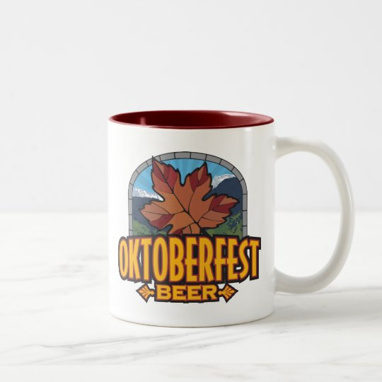 Oktoberfest Beer Two-Tone Coffee Mug