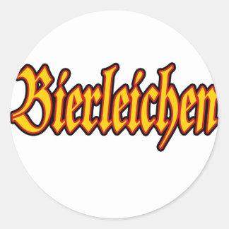 Oktoberfest Bierleichen Classic Round Sticker