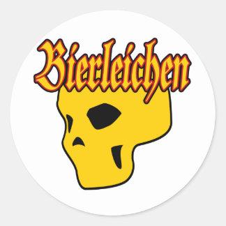 Oktoberfest Bierleichen Skull Classic Round Sticker