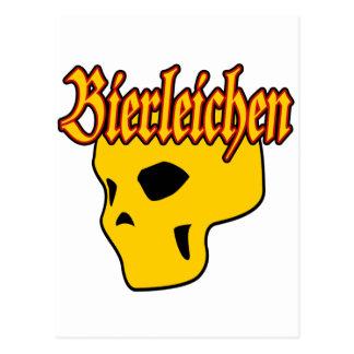 Oktoberfest Bierleichen Skull Postcard
