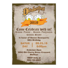 Oktoberfest Birthday Party Invite at Zazzle