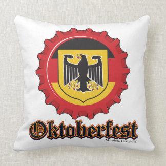 Oktoberfest Bottle Cap Throw Pillow