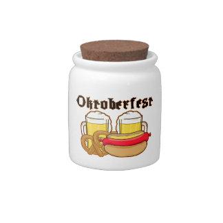 Oktoberfest Bratwurst & Beer Candy Dishes