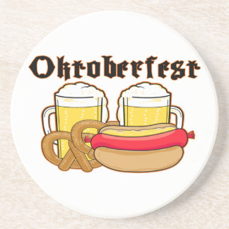 Oktoberfest Bratwurst & Beer Drink Coaster