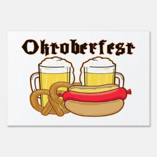 Oktoberfest Bratwurst & Beer Lawn Sign