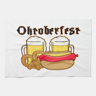 Oktoberfest Bratwurst & Beer Towel
