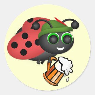 Oktoberfest Bug Sticker Round Sticker