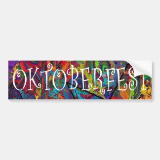 Oktoberfest Bumper Sticker Car Bumper Sticker