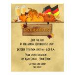 Oktoberfest, calabazas, cerveza, aviador tarjeta publicitaria